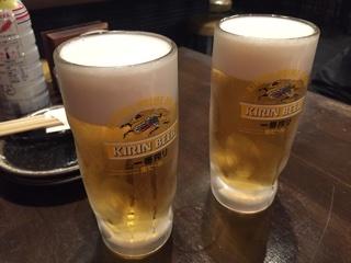乾杯の生ビール