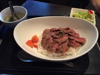 Beefステーキ丼 肉1.5倍