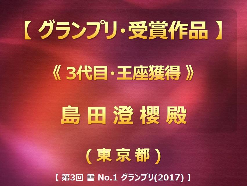 第3回 書 No-1 グランプリ(2017) 入賞作品・グランプリ画像2017-0710-1835