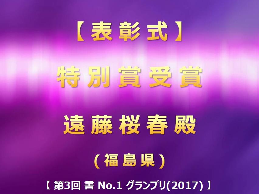 第3回 書 No-1 グランプリ(2017) 表彰式・特別賞受賞・発表画像2017-0711-0858
