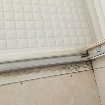 風呂場入口掃除前2