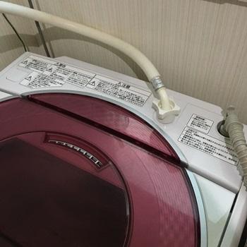 洗濯機上掃除後