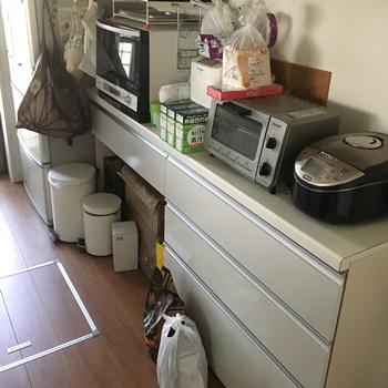 キッチン引き出し全体