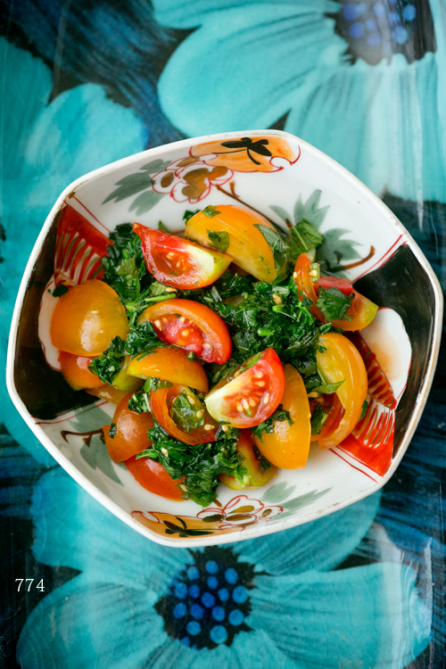 トマトとモロヘイヤ