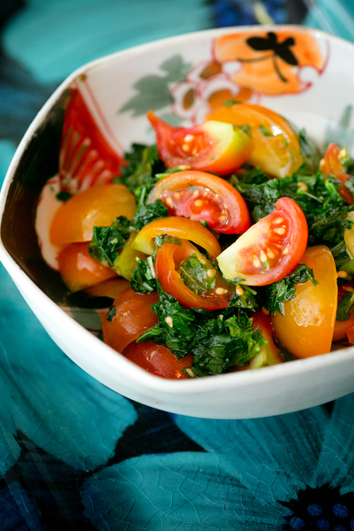 トマトとモロヘイヤ2