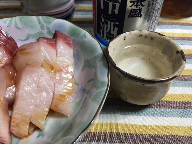 日本酒と鰆