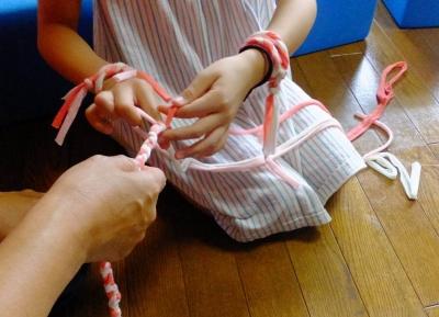 三つ編み③