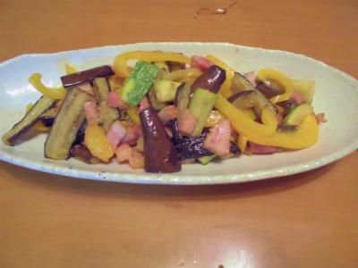 7.21夏野菜のベーコン炒め
