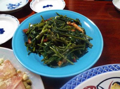 8.13空心菜炒め
