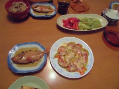 9.8夕食