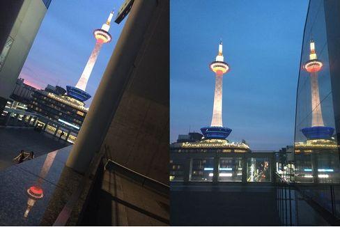 夜の京都タワー_H29.06.26撮影