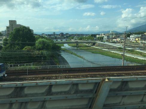 新幹線から鴨川_H29.06.28撮影