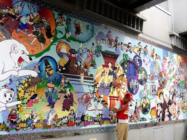 高田馬場-手塚治虫さん壁画その2