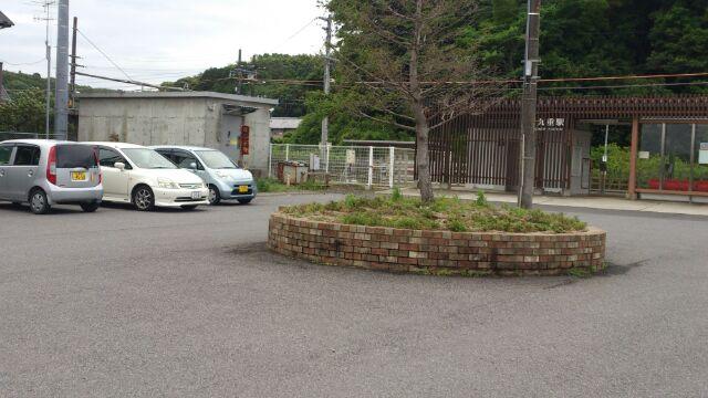 九重駅ロータリー2012
