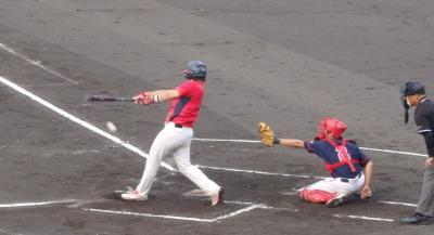 P72643291回裏熊本市役所1死二、三塁から4番の投ゴロで1点先制