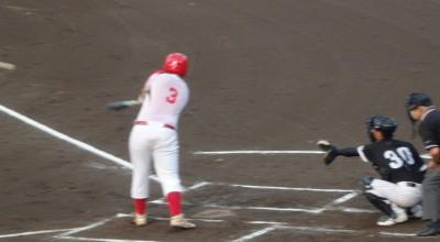 P7284472H・プラン1回裏無死二、三塁から4番が左中間2点二塁打を放つ