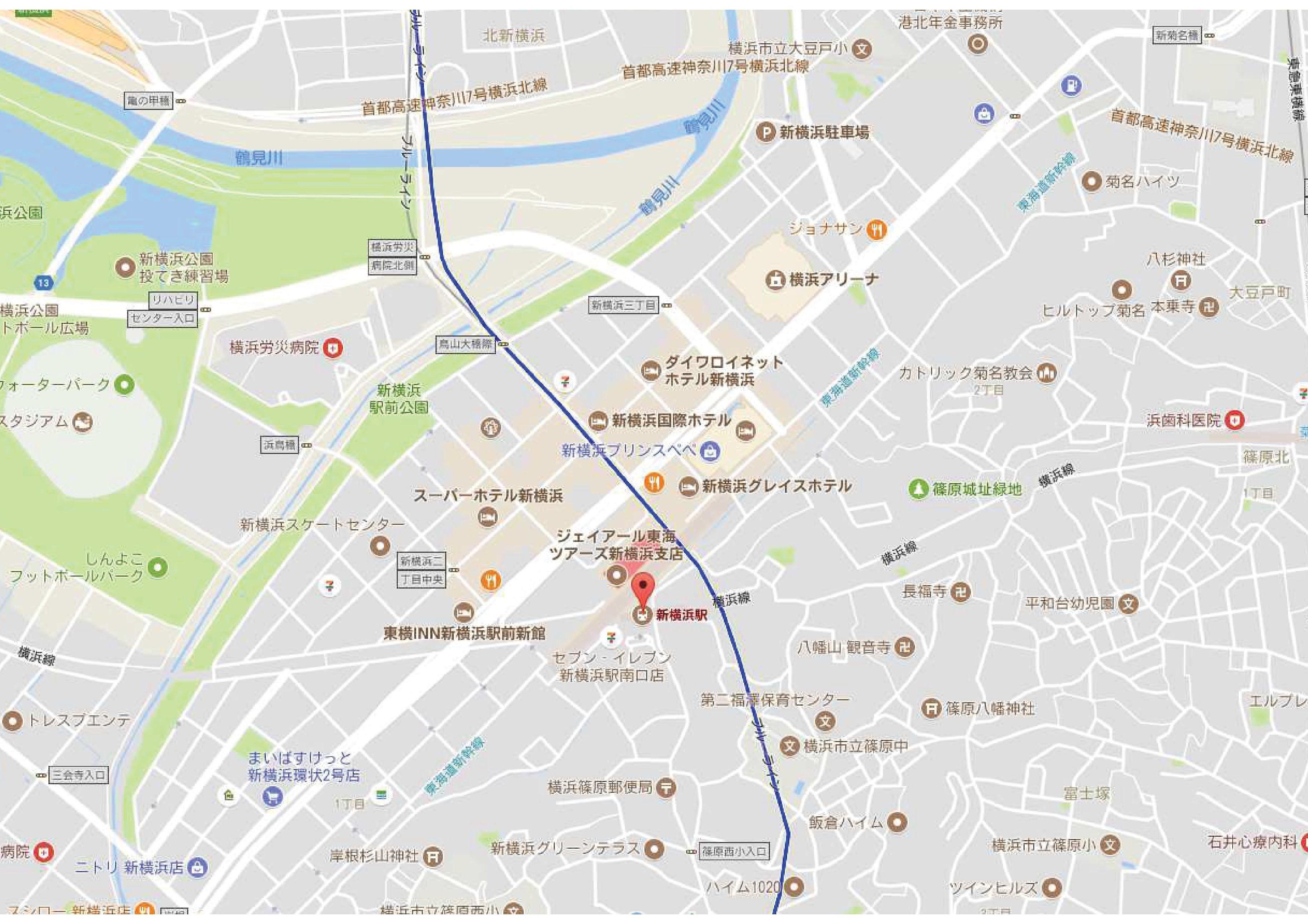 新横浜駅マップ