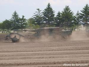 90式戦車マインローラー付