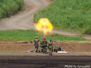 富士総合火力演習2017(120mm迫撃砲)