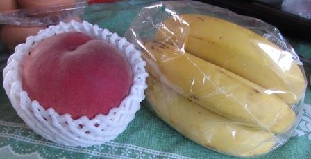 バナナと桃