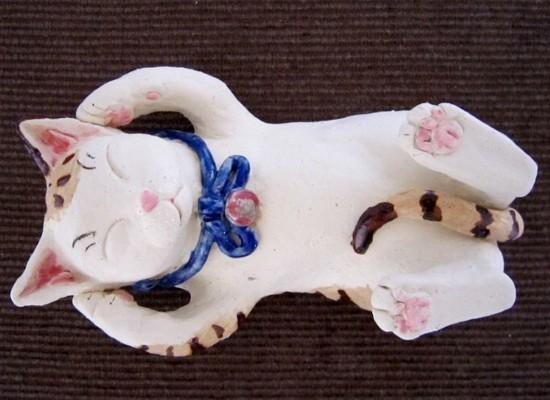 にっこりまる招き猫#すず音窯#陶芸家めいこ#猫置物