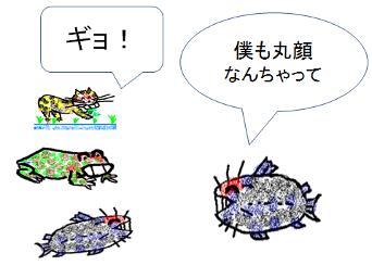 丸顔ギョッ(マンガ絵)