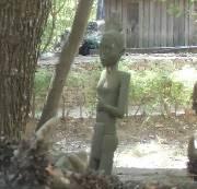 マダガスカルの古代の女性像ふんどし着