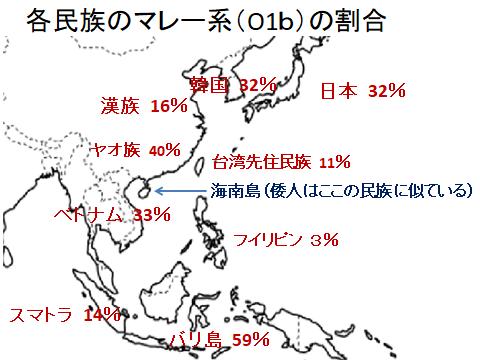 各民族のマレー系の割合(地図)