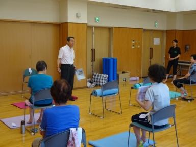 災害時対応について訓練の重要性を説明