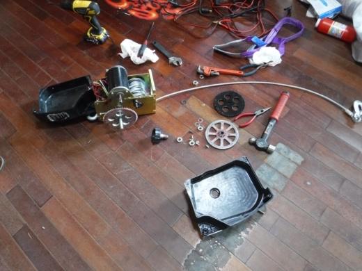 ポータブルウインチ修理 (13)