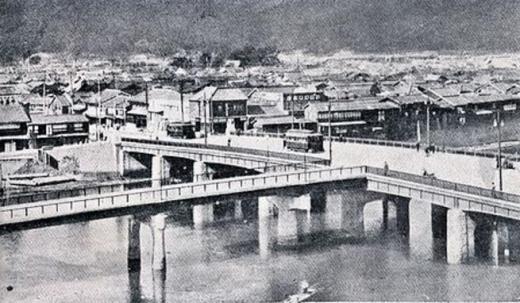 原爆広島市相生橋被爆前1