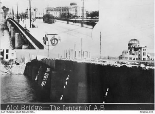原爆広島市相生橋被爆後1