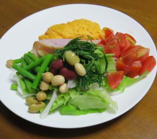 朝の生野菜サラダ8月