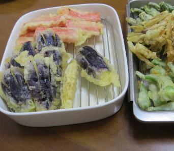 ナス天ぷら美味しい