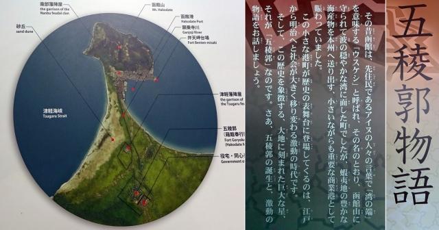 44函館と函館山の上空写真