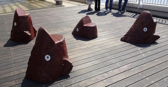 11デッキの魚頭の椅子