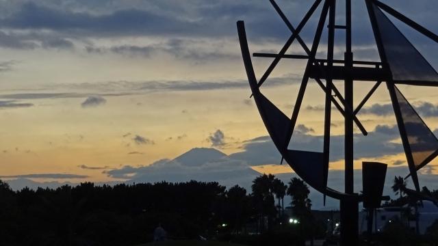 31日夕方の富士山1
