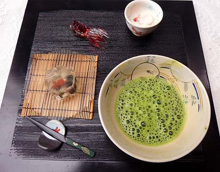金魚・お抹茶