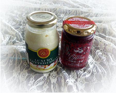 クロテッドクリ-ム&梅薔薇ジャム