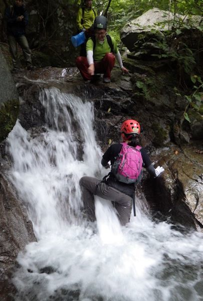 小滝にチャレンジ