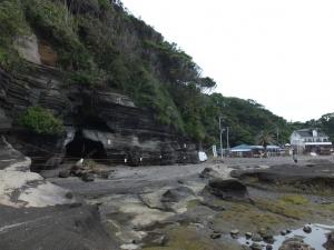 新井城/荒井浜より見る断崖絶壁