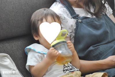 娘と孫。。(*^▽^*)