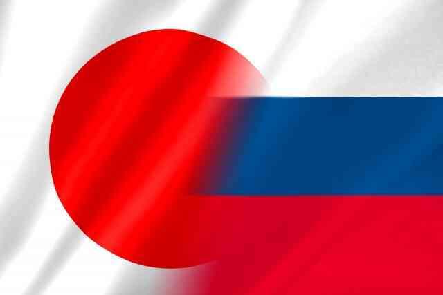 日本ロシア旗