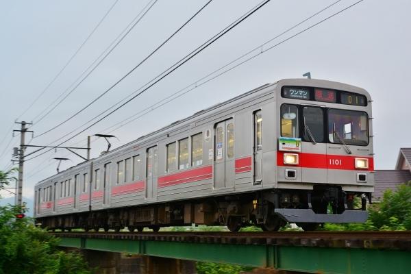 2017年7月8日 上田電鉄別所線 下之郷~中塩田 1000系1001編成