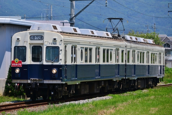 2017年7月8日 上田電鉄別所線 上田原~寺下 7200系7255編成