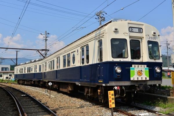 2017年7月8日 上田電鉄別所線 下之郷 7200系7255編成
