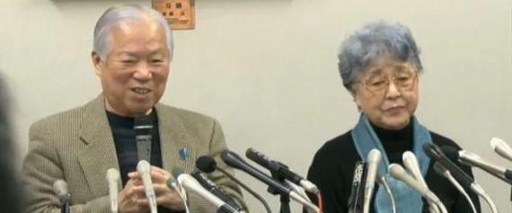 横田めぐみさん両親記者会見