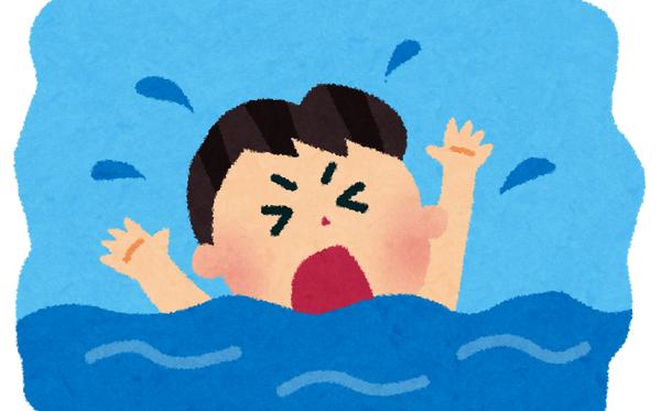 溺れる いらすとや