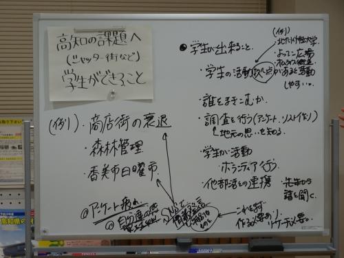 まとめボード1「高知の課題へ学生ができること」