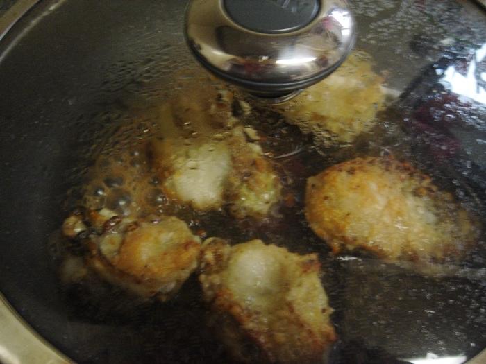 岩牡蛎の炒め物